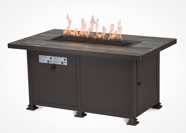 """Garden Cottage 30""""x50"""" Rectangle Chat Height Gas Fire Pit"""