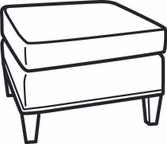 Essentials Shelter Arm Ottoman (700-00)