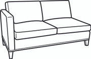 Essentials One Shelter Arm Loveseat (700-19)