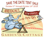 Tent Sale Oct 5-14 - Morristown Location Only