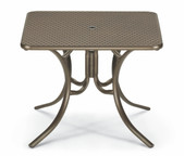 "36"" Square Dining Height Perforated Table"