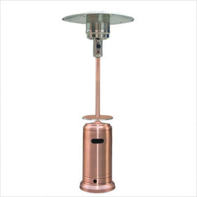 Tall Copper Patio Heater with Table - AZ Patio Heaters Tall Copper Patio Heater With Table - Garden Cottage
