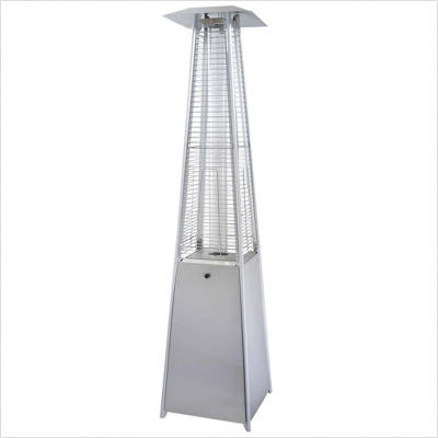 Az Patio Heaters Tall Quartz Glass Tube Heater In Stainless Steel