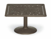 "36"" Square Conversation Height Pedestal Cast Table"