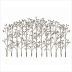 Iron Trees Wall Art in Antique Silver Champagne