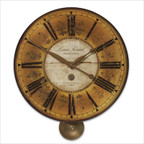 Louis Leniel Weathered Laminated Clock
