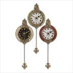 Monarch Weathered Laminated Clock (Set of 3)