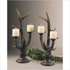 Stag Horn Candleholder (Set of 2)
