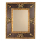 Cadence Ornamental Gold Leaf Stately Wall Mirror