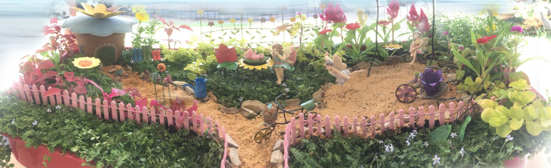 Miniature Fairy Garden Daisy Baskets 3 Piece Set