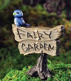 Blue Bird Sign Miniature Fairy Garden Sign