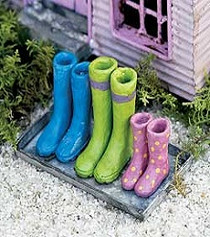 Wellies on Boot Tray