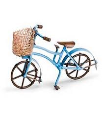Bike w/Basket - Blue