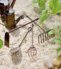 Antique Garden Tools S/4