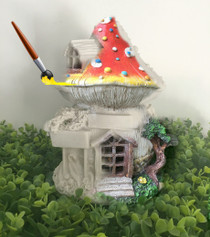 Paint Your Own Mushroom Cottage - Solar