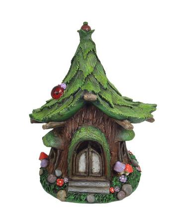 Solar Fairy Tree House w/Ladybug