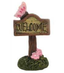 Enchanted Welcome Sign Pink