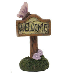 Enchanted Welcome Sign Purple
