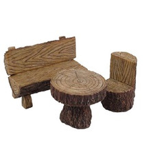 Woodland Log Bistro Set