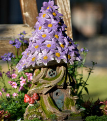 Cottage Flower Purple  Fairy Solar House
