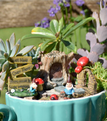 Log Fairy Garden Kit S/8