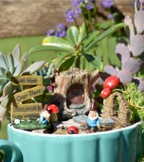 Log Fairy Garden Kit S/8