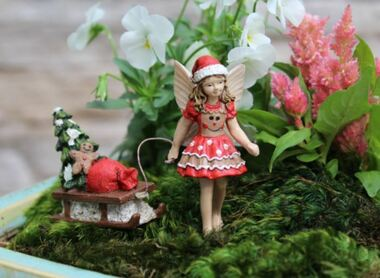 Fairy Ginger w/Sleigh   Fairy Garden Australia   Fairy Garden Christmas