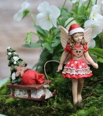 Fairy Ginger w/Sleigh | Fairy Garden Australia | Fairy Garden Christmas
