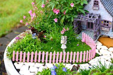 Fairy Garden Fence - Pink