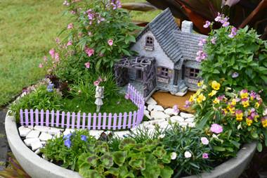 Fairy Garden Fence - Purple