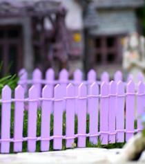 Fairy Garden Fence - Purple