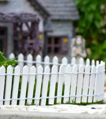 Fairy Garden Fence - White
