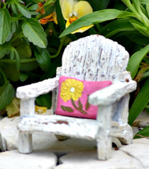 Porch Chair w/ Pink Pillow