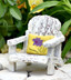 Porch Chair w/ Yellow Pillow