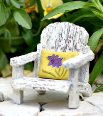 Porch Chair w/ Yellow Pillow