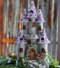 Fairy Purple Flower Castle - Solar