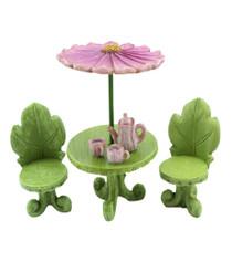 Miniature Fairy Garden Umbrella Flower Table  | Miniature Fairy Furniture