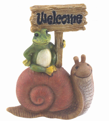 Welcome Snail Sign