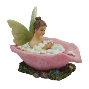 Miniature Fairy Garden Fairy | Miniature Fairy Garden Statue | Fairy Bath Time