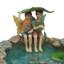 Miniature Fairy Garden Fairy | Miniature Fairy Garden Statue | Fishing Fairy Friends