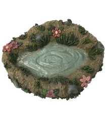 Miniature Fairy Garden Pond | Miniature Fairy Garden Water Feature | Fairy Flower Garden Pond