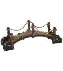 Miniature Fairy Garden Bridge | Miniature Fairy Garden Landscaping | Wooden Suspension Bridge