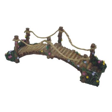 Miniature Fairy Garden Bridge | Miniature Fairy Garden Landscaping | Wooden Suspension Bridge