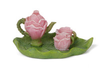 Miniature Fairy Garden Tea Set | Miniature Fairy Garden Accessories | Rose Tea Set w/Tray