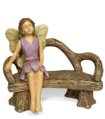Miniature Fairy Garden Bench Seat | Miniature Fairy Garden Furniture | A Quiet Rest w/ Bench