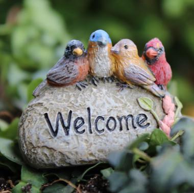 Miniature Fairy Garden Rock | Miniature Fairy Garden Welcome Sign | Fairy Welcome Rock