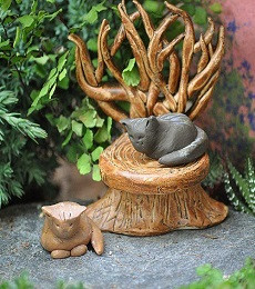Miniature Fairy Garden Cat | Miniature Fairy Garden Kitty | Little Kitty Soft Kitty