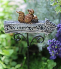 Miniature Fairy Garden Sign | Miniature Fairy Garden Enchanted Sign | Enchanted Village Sign