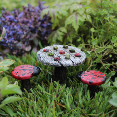 Miniature Fairy Garden Bistro | Miniature Fairy Garden Furniture | Tic-Tac-Toe Bistro