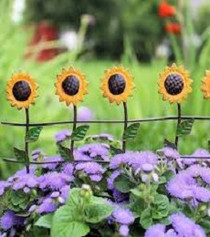 Miniature Fairy Garden Fence | Miniature Fairy Garden Landscaping | Sunflower Fence